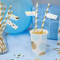 Pattern Works Blue Straw Flags (30)